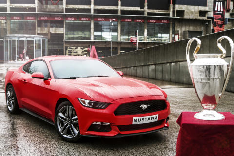 Nye Ford Mustang under Champions League-finalen i Lisboa
