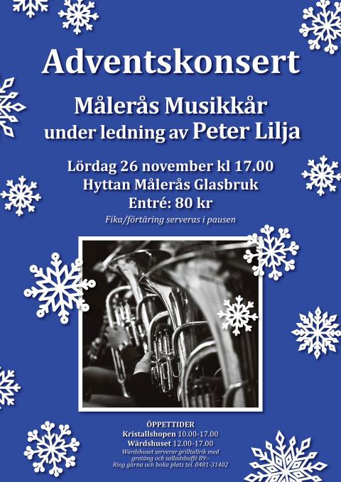 Målerås Musikkår ger adventskonsert i Målers hytta