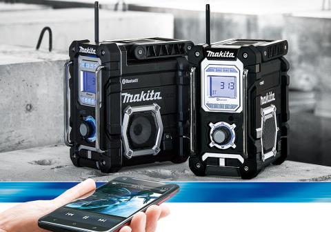 makitas nya radio r utrustad med bluetooth och usb laddning makita sverige. Black Bedroom Furniture Sets. Home Design Ideas