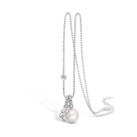Vakkert smykke i sølv med ferskvanns kulturperle og cubic zirkonia 1450,-