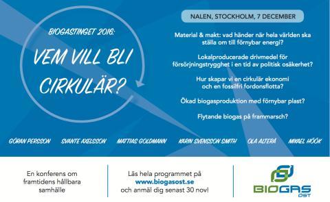Nomineringar årets Biogasutmärkelse 2016