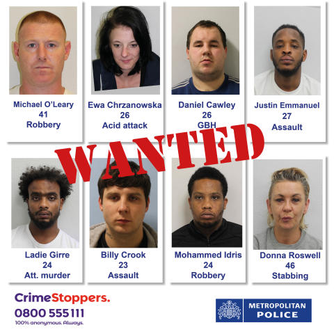 Wanted Week of Action: Can you help us find these wanted suspects?