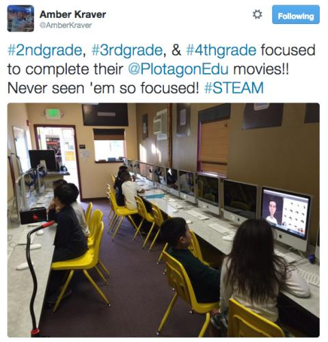 Students are focused to complete their Plotagon Education movies