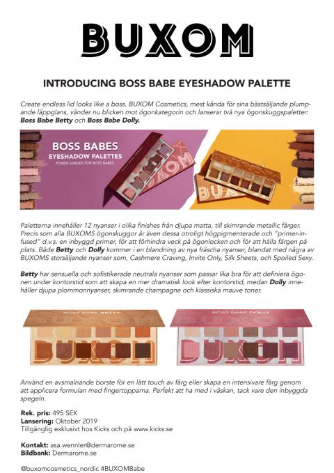 Pressrelease Buxom Boss Babe Eyeshadow Palette