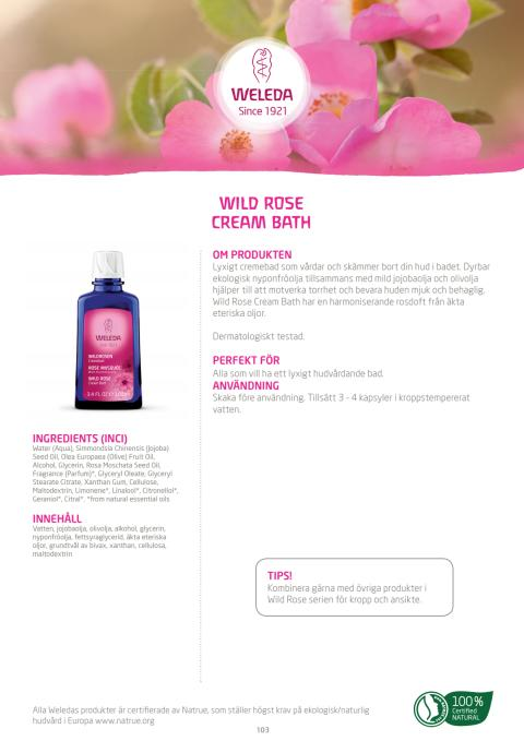 Wild Rose Cream Bath
