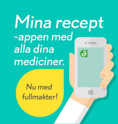 Nu lanserar Apoteket fullmakter i appen Mina recept!