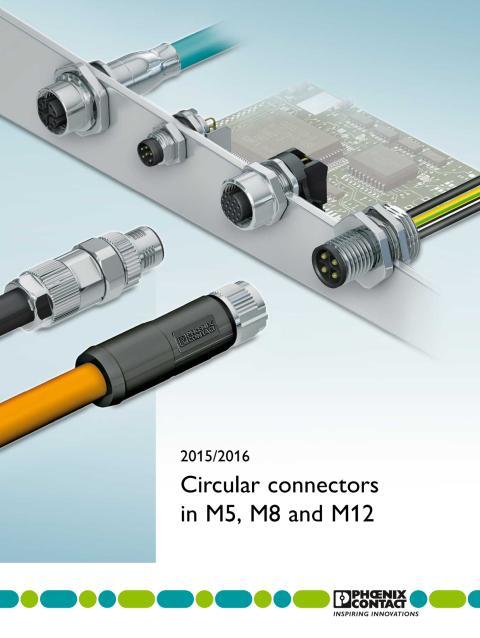 Överblick av cirkulära kontakter från M5 till M12