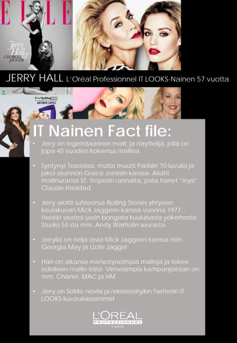Kuka on Jerry Hall - Fact File