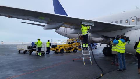 Premiärtankning av biobränsle på Åre Östersund Airport