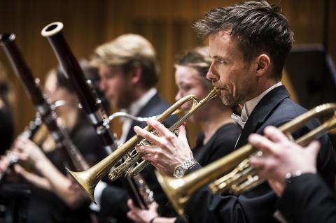 Blåsmusiker i Västerås Sinfonietta Foto: Jonas Bilberg