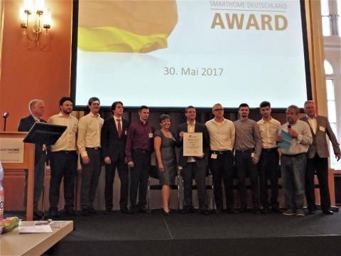 """2. Platz beim """"SmartHome Award Deutschland 2017"""" an Studierendenteam der TH Wildau für Telematikprojekt zur Unterstützung von Hörgeschädigten"""