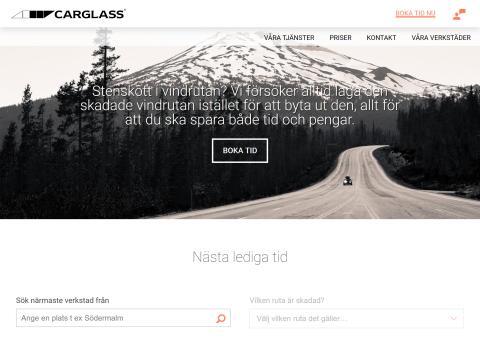 Tidig julklapp från Carglass: ny sajt för ännu bättre kundupplevelse