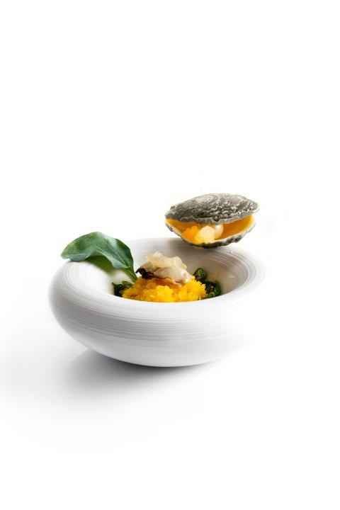 "Ostron i vit choklad ""Pear And Mandarin Oyster"""