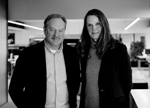 Tommy Falch, adm. dir. med Kirsten Anker Sørensen, viceadm. dir.
