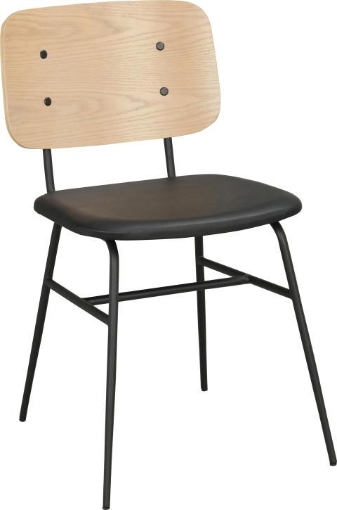 Brent stol Vitpigmenterad_svart 118980 1