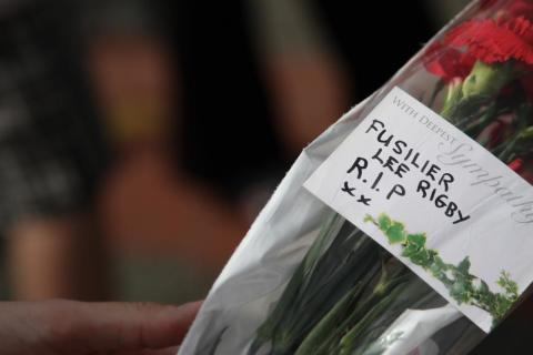 TRIBUTE: Flowers left by a mourner