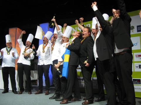 OS guld för Patrik Fredriksson, chefskonditor på Clarion Hotel Post