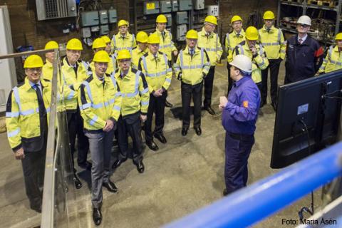 Swerea MEFOS besöktes av HM Konungen och Kungliga Ingenjörsvetenskapsakademien