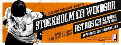 Stockholm Roller Derby möter Windsor och Hamburg på hemmaplan