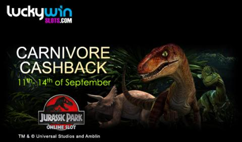 It's time for Carnivore Cashback at Lucky Win Slots | LuckyWinSlots.com