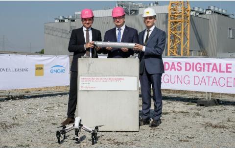 Grundsteinlegung: Erweiterung Telekom-Rechenzentrum in Biere