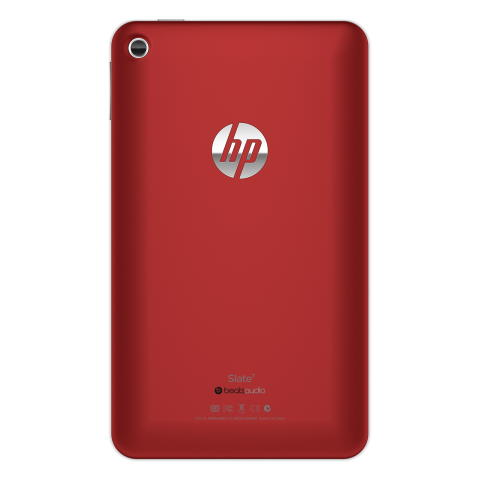HP Slate 7 red front