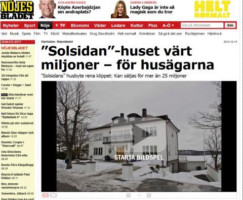 """""""Solsidan""""-huset värt miljoner – för husägarna"""