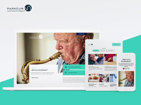 Neu: Digitales Magazin PARKOUR bietet hilfreiche Tipps rund um Parkinson