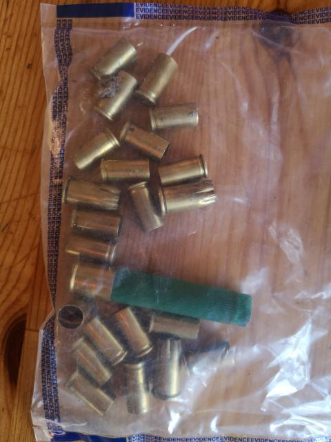 Shell casings recovered