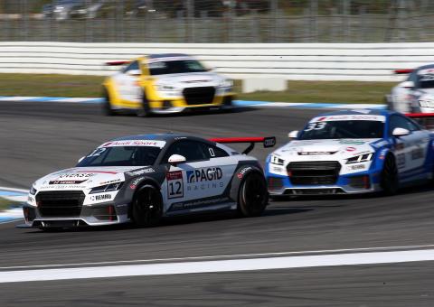 Simon Larsson #12 Audi Sport TT Cup premiären på Hockenheim