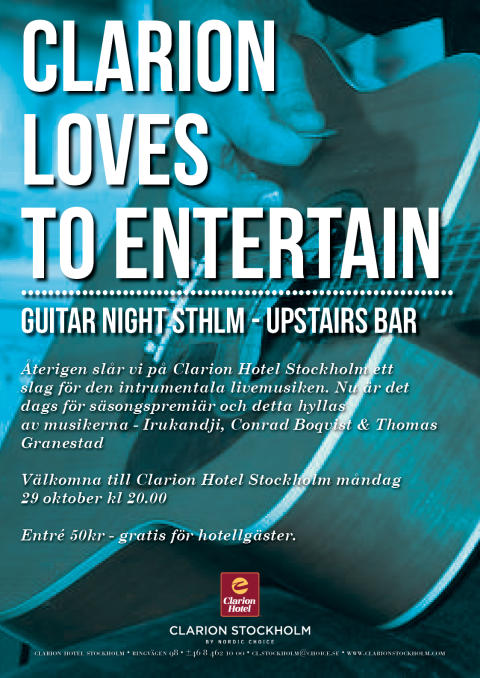 Guitar Night STHLM 29 oktober