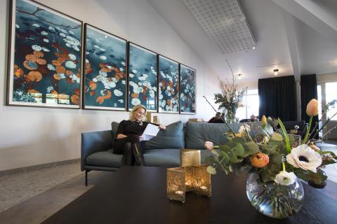 Aronsborg nyrenoverad lobby