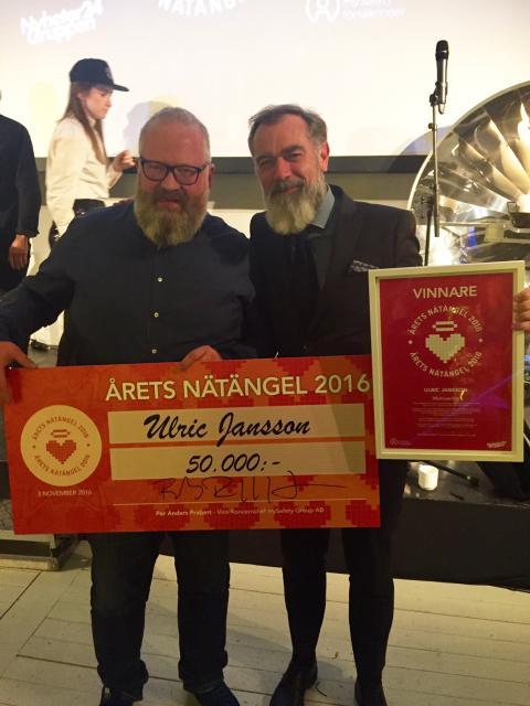 Ulric Jansson utsedd till Årets Nätängel 2016
