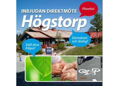 Pressinbjudan: direktmöte Högstorp