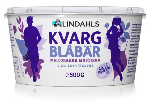 Lindahls Kvarg Blåbär 500 gram