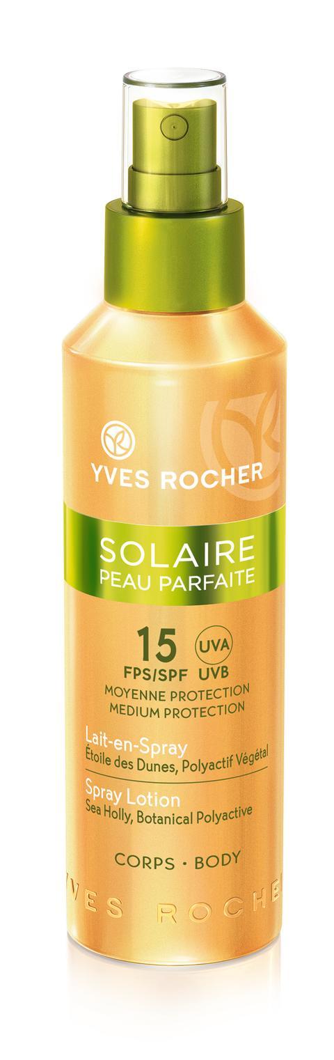 Solaire Peau Parfaite Spray Lotion – Medelhögt skydd SPF 15