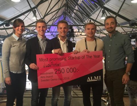 JustFootball vinner Almi Invests investering Most Promising Startup of the Year