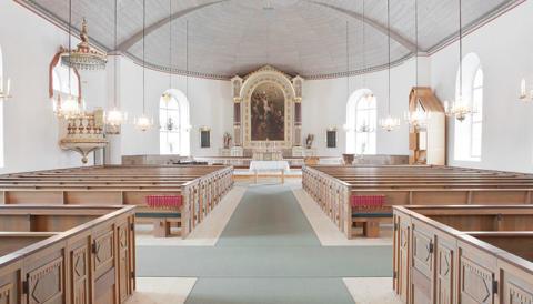 Frico värmer i Södra Unnaryds kyrka