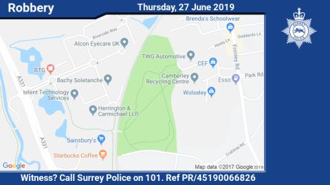 Witness appeal following knifepoint robbery in Camberley