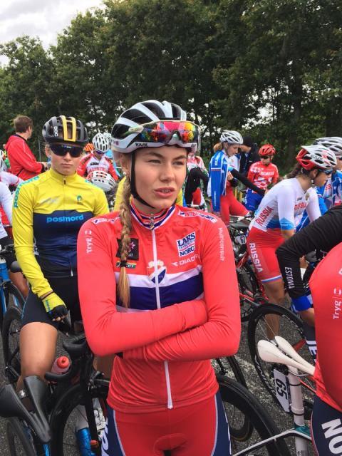 Martine Gjøs under EM Landevei 2017