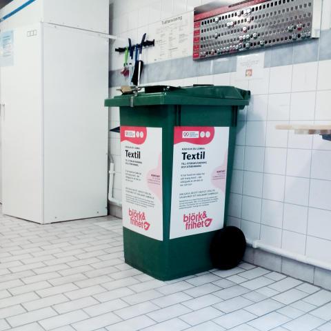 Fastighetsnära insamling (FNI) av textil i tvättstuga 1