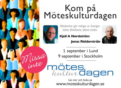 Möteskulturdagen i Stockholm den 9 september
