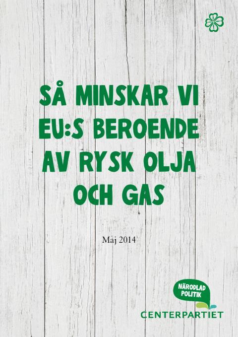 Så minskar vi EU:s beroende av rysk olja och gas