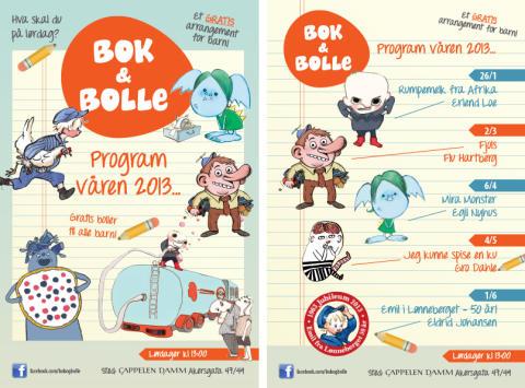 Velkommen til Bok & bolle våren 2013!