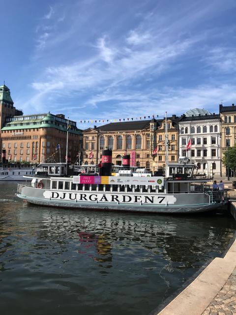 Gratisfärjan till Djurgården – ny färjelinje i sommar