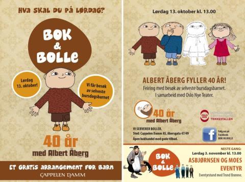 Velkommen til Bok & bolle - møt Albert Åberg!