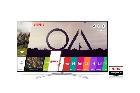 LG:s UHD-tv-modeller med HDR rekommenderas av Netflix för överlägsen tittarupplevelse