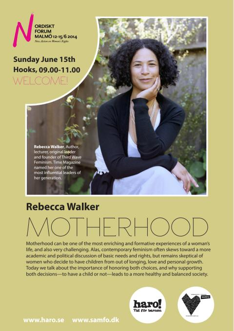 Motherhood - Rebecca Walker at Nordic Forum 2014
