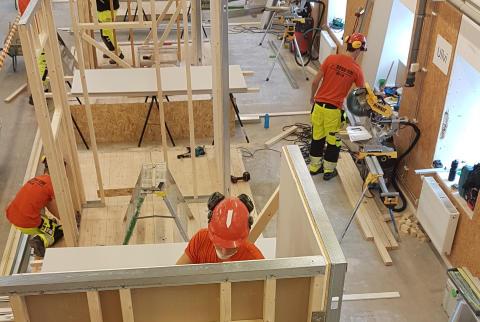 Bästa byggeleven i Västmanland koras under Bygg-VM