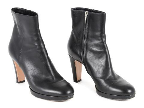 Fashionabla 20 september, Nr: 109, BOOTS, GIANVITO ROSSI, svart läder